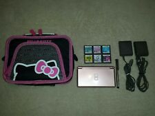 Metallic Pink Nintendo DS Lite, Hello Kitty Carrying Case, Games, & Extras