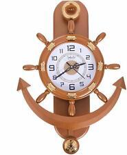 Pendulum Copper Anchor Shape Analog Wall Clock Decorative Wall Clock New Style