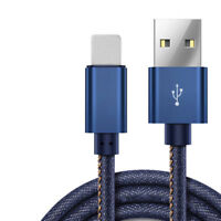 1M 2M Charger Cable For iPhone Samsung HUAWEI Type C Micro USB Leather Cable New