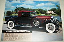 1930 Cadillac V16 Coupe car print (red & black)