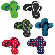 Yello Boys Kids Flip Flops UK Size 11 12 13 1 2 3 4 5 Summer Beach Holiday Pool
