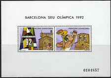 ANDORRA (SPANISH) :1987 Olympic Games, Barcelona Min Sheet  SGMS194 MNH