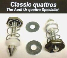 """2 x NEW BONNET PINS """"GENUINE"""" AUDI UR QUATTRO TURBO COUPE/COUPE/80/90 B2/100/200"""