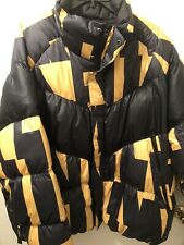 Nike NSW Down Fill Ski Jacket Black Yellow XXL