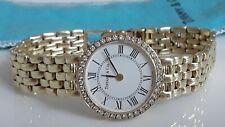 Authentic Tiffany & Co 14k Gold Lady's Watch With 0.60 C Natural Diamonds