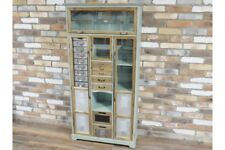 Industrial Wooden Cabinet Multi Storage Drawers With Display Compartments