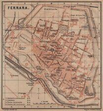 FERRARA ANTICA CITTA 'CITY Pianoforte piano urbanistico. ITALIA MAPPA 1903 VECCHIO