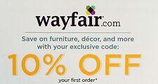 WAYFAIR: 10% Off Your First Order - Discount Online Code (9/15/17)