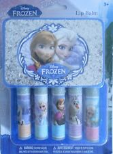 Lip Balm DISNEY FROZEN 5 Fruity Flavors Sparkle Case Storage S2