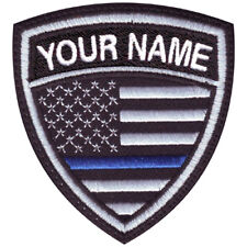 Thin Blue Line USA Personalized Crest Embroidered Patch
