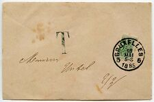 BELGIUM BISECT 1885 + TAXE POSTAGE DUE on SMALL ENVELOPE