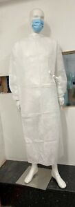 Airguard Filters White Isolation Gown Large X 20 Units, 65 gsm