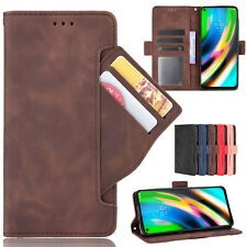 For Motorola Moto G9 Plus, Separable Card Slots Flip Leather Wallet Case Cover