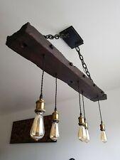 Wooden beam light | Rustic Farmhouse Chandelier |Wooden Pendant Light Fixture
