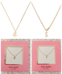 """Kate Spade One In A Million Initial Pendant Necklace,  """"a"""" """"s"""" ,  NWT $48"""