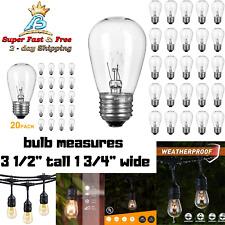 Replacement Clear Glass Bulbs String Lights 11 Watt Warm White S14 E26 E27 Base