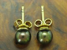 14kt 585 Yellow Gold Ear Studs with Akoya-Pearls Decorations/Earrings/