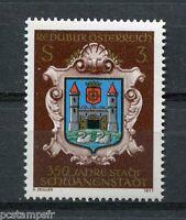 AUTRICHE, 1977, timbre 1382, ARMOIRIES SCHWANENSTADT, neuf**, VF MNH stamp