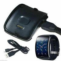 Schwarz Laden Wiege Dock Ladegerät Kabel für Samsung Galaxy Gear S SM-R750 Uhr M