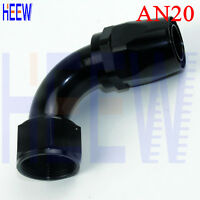 AN20 20AN AN -20 90 Degree Fuel Swivel Fittings Hose End Oil Adaptor Black