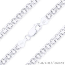 in Solid 925 Italy Sterling Silver 3mm Bizmark Bismark Link Italian Chain Anklet