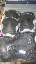 🌟 K2 Skate Pad Junior 6 Pc Set Black Elbow Wrist Knee Net Carry Pack & Book
