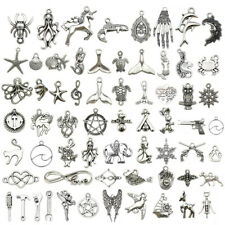 Lot Tibetan Silver Fashion Jewelry Charms Pendant Bracelet Carfts DIY Finding
