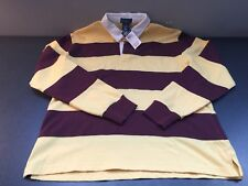 Raulph Lauren Polo Rugby Long Sleeve Y L (14-16) Yellow Maroon White