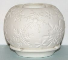 """PartyLite """"ILLUMINESCENTS SNOWFLAKES"""" OIL & CANDLE HOLDER - P90453 - never used"""