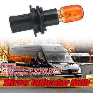 For Mercedes Sprinter Wing Mirror Indicator Repeater Lens Lamp Bulb & Holder ~