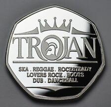 More details for trojan records .999 silver commemorative. ska reggae rocksteady roots dub 1968