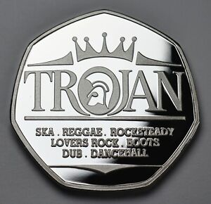 TROJAN RECORDS .999 Silver Commemorative. SKA REGGAE ROCKSTEADY ROOTS DUB 1968