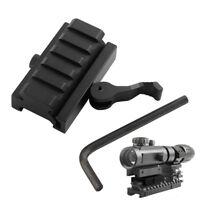 "Quick Detach Half Inch 1/2"" Mini Riser QR Block Mount For 20mm Picatinny Rail"