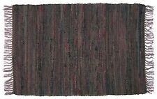 6' x 9' Sturbridge Rag Rug in Tobacco Brown, Hand Woven, 100% Cotton Area Rug
