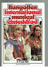 Llangollen Musical Eisteddfod Programme 1976