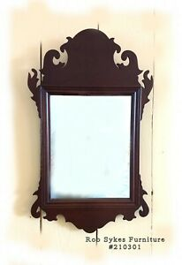 Quality Solid Mahogany Philadelphia Chippendale Style Mirror