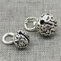 2pcs of 925 Sterling Silver Star Jingle Bell Charms
