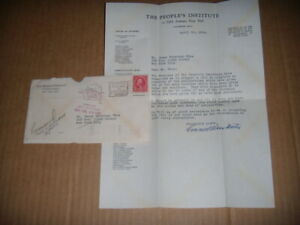 1928 Geo.Washington 2 Cent Stamp Letter to James Waterman Wise Signed E.D.Martin