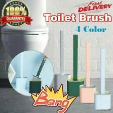 Revolutionary Silicone Flex Toilet Brush And Holder Set Wall-hung Hook Design