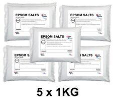 Sales de Epsom | 5 X 1 Kg-en total 5 kg de calidad alimentaria | Sulfato De Magnesio Sales De Baño