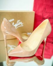 Christian Louboutin Pigalle 100 Nude Patent Leather 39.5