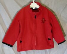 Baby Boys Ralph Lauren Red Black Trim Logo Fleece Warm Jacket Age 18-24 Months