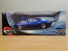 1:18 Hot Wheels Pro Street Corvette Dark Blue NEW OLD STOCK