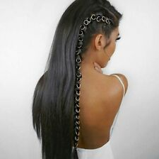 10pcs Women Boho Hip-Hop Braid Silver Ring Hair Clip Pin Accessory DIY New