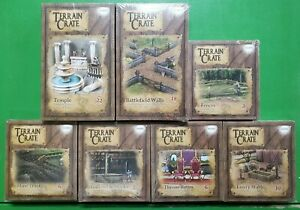 Mantic Games - Terrain Crate Lot Temple Battlefield Walls Throne Room Gallows