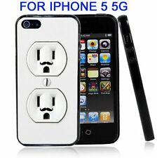 Wall Outlet Duplex With Mustache For Iphone5 5G Case Cover