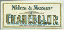 OLD NILES & MOSER DENVER TOBACCO EMBOSSED CIGAR BOX LABEL FREE SHIP ON SALE AD18