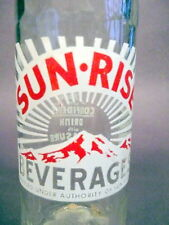 "vintage ACL Soda POP  Bottle: red mts. SUN-RISE w/ ""Pedal"" bottle - 10 oz   ACL"