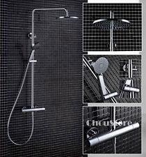 Bathroom Thermostatic Shower Mixer Valve Mixing Tap Set Rain Hand Shower Faucet