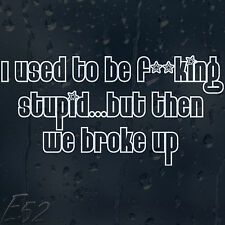 Funny I Used To Be A F**king Stupid Car Or Laptop Decal Vinyl Sticker